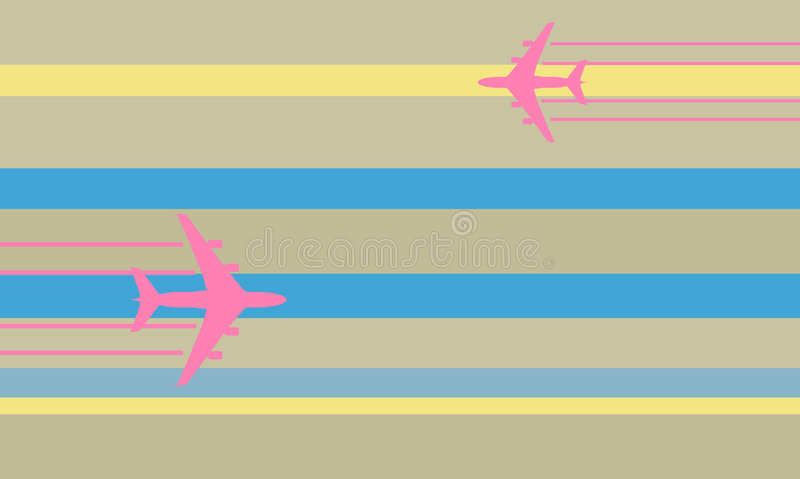 latająca samolot ilustracja ilustracja wektor
