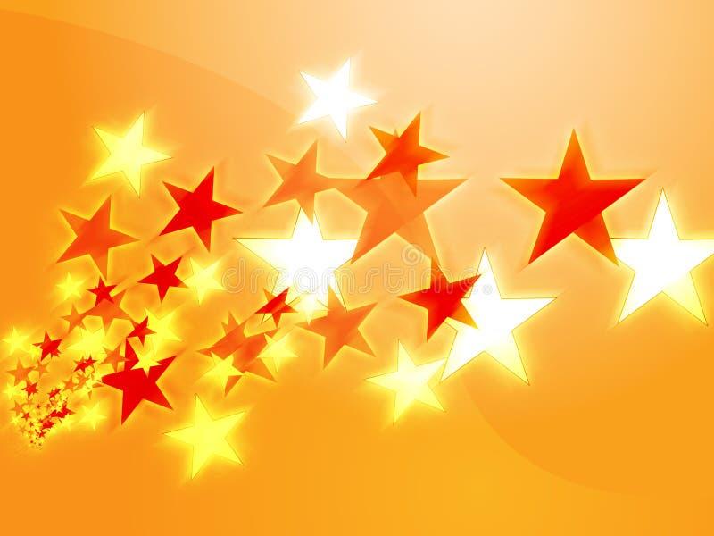 latające gwiazdy ilustracji