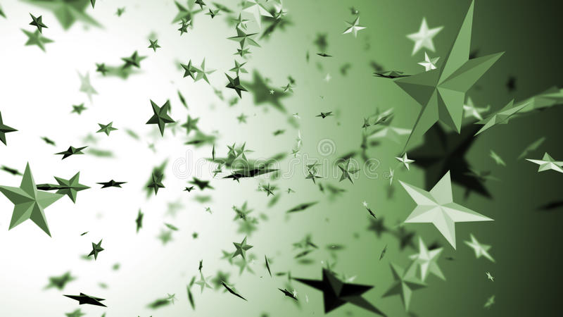 latające gwiazdy royalty ilustracja