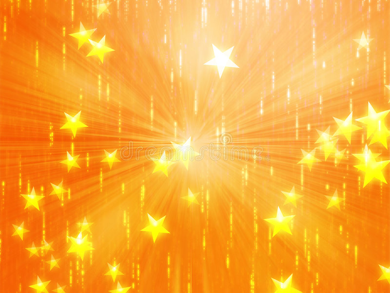 latające ilustracji gwiazdy ilustracja wektor