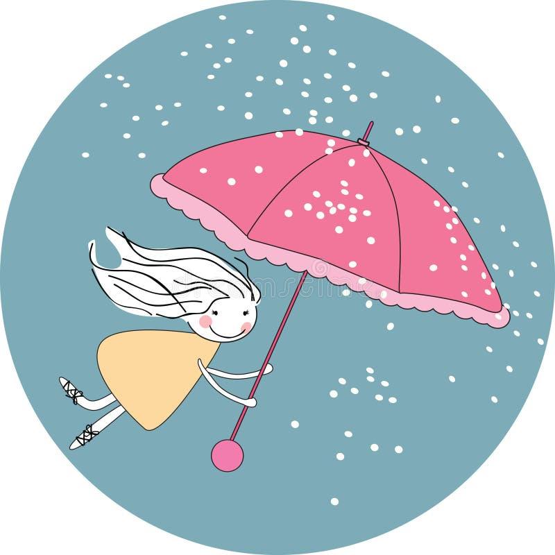 latający deszcz royalty ilustracja
