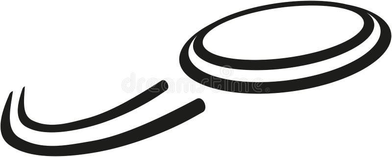 Latający frisbee wektor ilustracja wektor