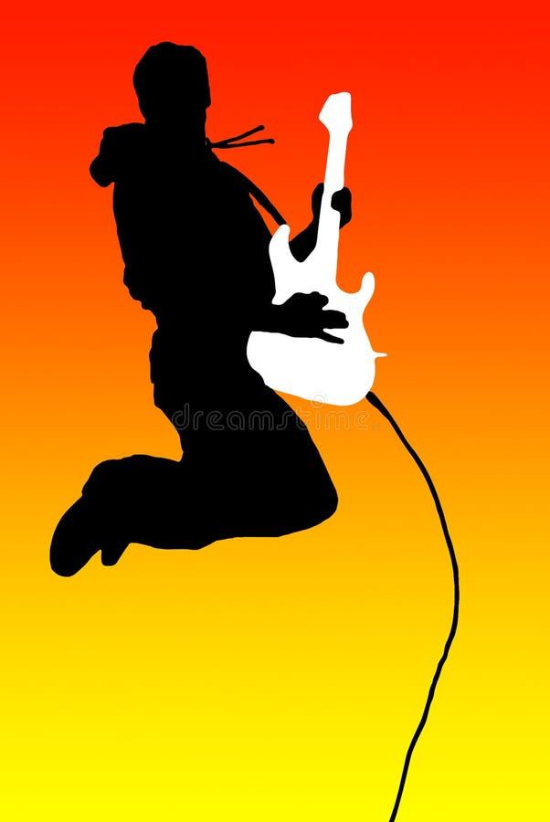 latający gitarzysta royalty ilustracja