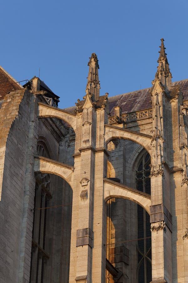 Latający gurt w katedrze Beaubais fotografia stock