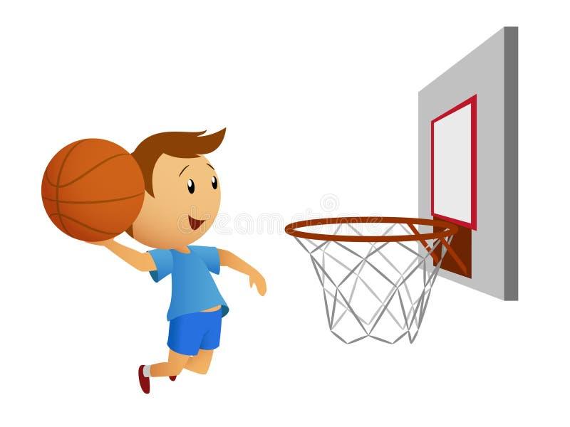 latający koszykówka gracz royalty ilustracja
