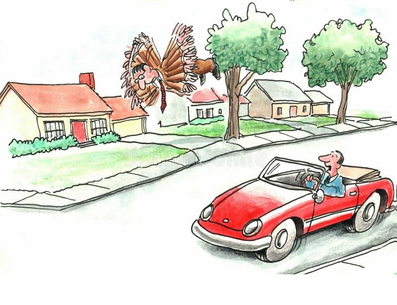 Latający mężczyzna ilustracja wektor