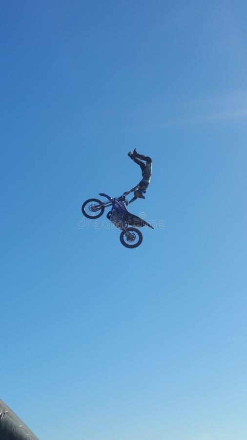 Latający motocykl zdjęcia royalty free