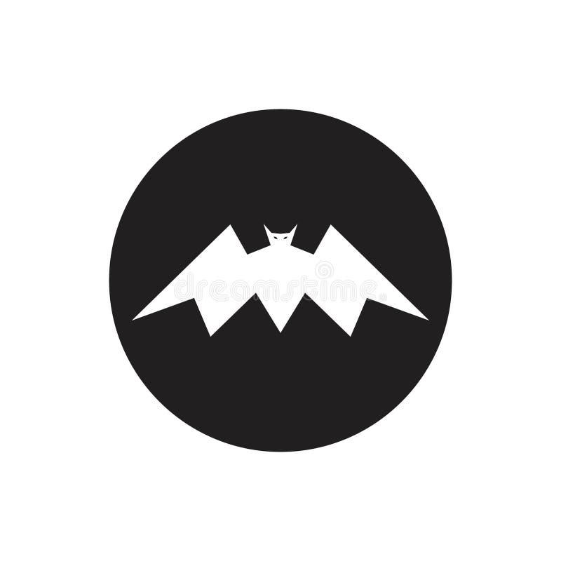 Latający nietoperz sylwetki ikony ilustracji logo pojęcie royalty ilustracja