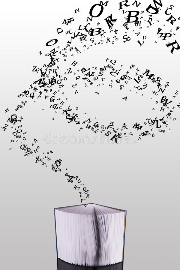 latający odchyleni książkowi latający listy ilustracja wektor