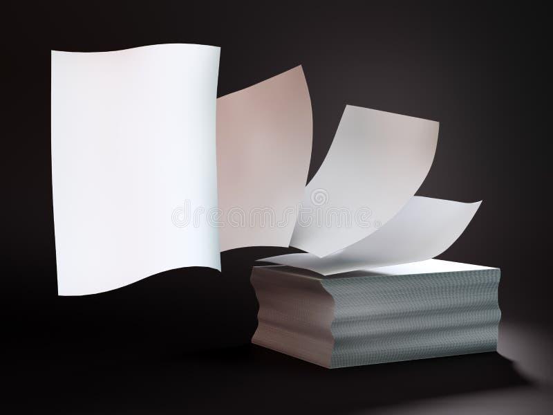 latający papiery obraz stock
