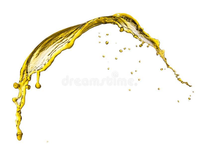 Latający pluśnięcie koloru żółtego ciecz fotografia stock