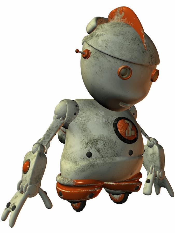 latający robot Toon ilustracja wektor