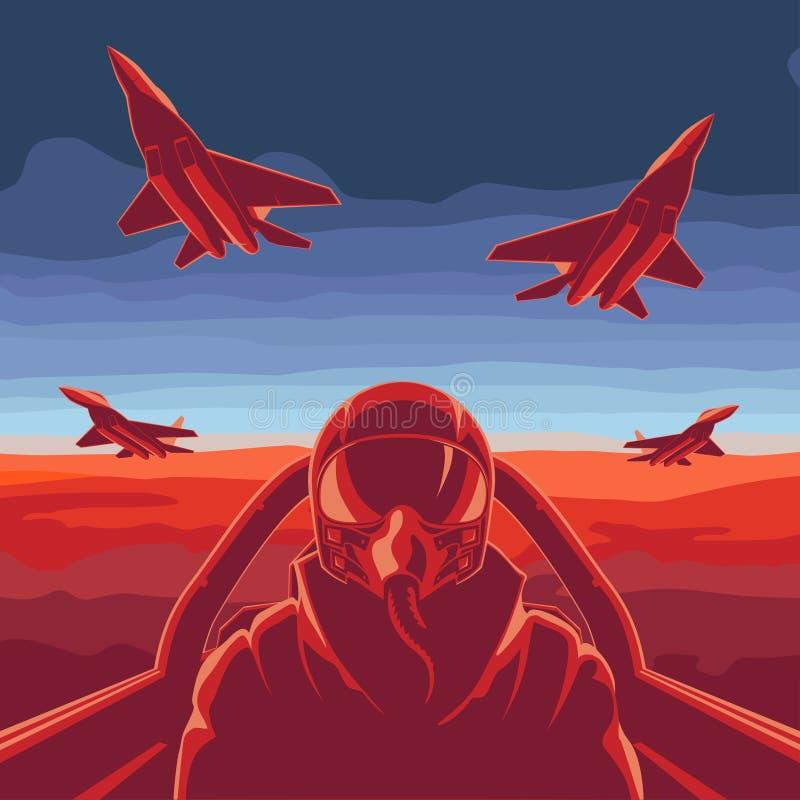 Latający samolot ilustracji