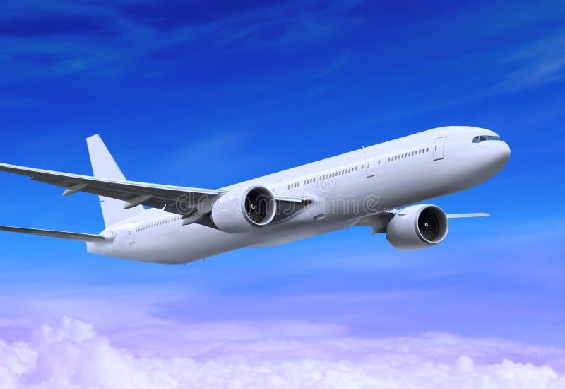 latający samolot zdjęcie royalty free