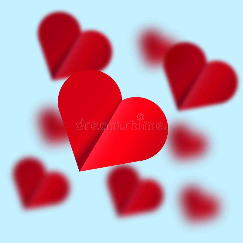 Latający serca - ilustracja ilustracja wektor