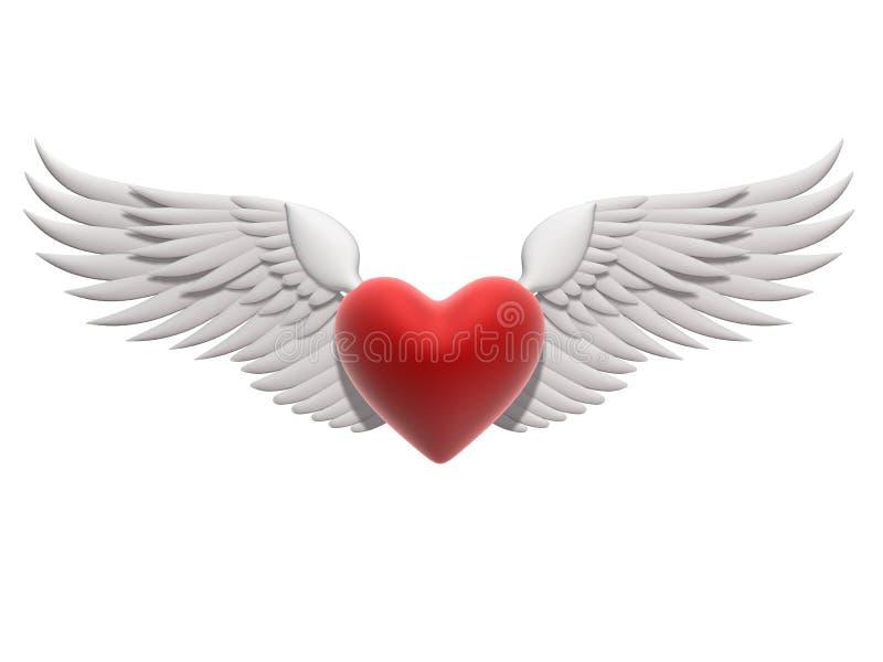 latający serce royalty ilustracja