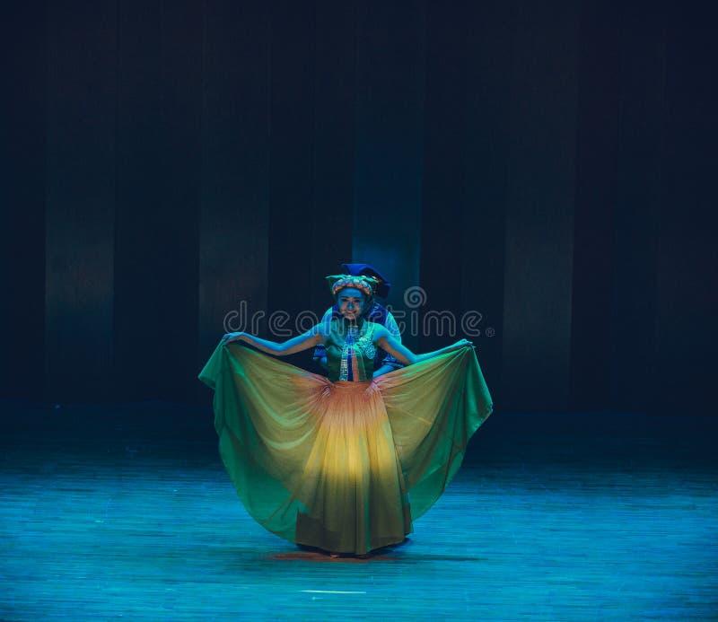Latający tana dramata Axi Yi ludowy taniec zdjęcia stock