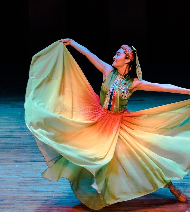 Latający tana dramata Axi Yi ludowy taniec obrazy royalty free