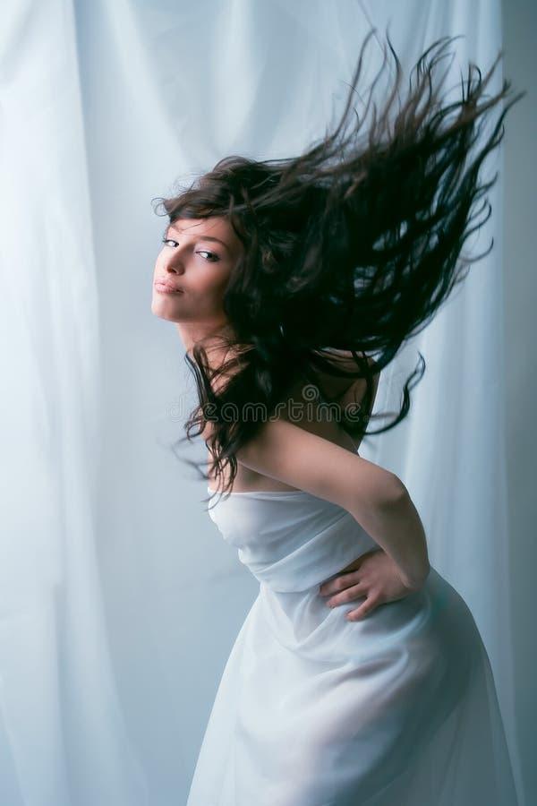 latający włosy fotografia stock