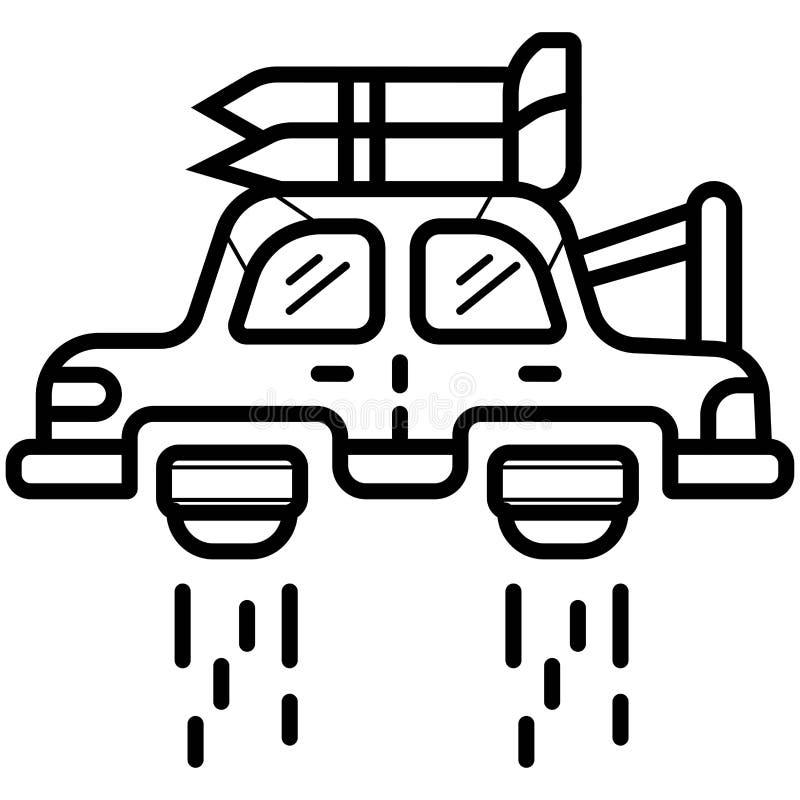 Lataj?ca samochodowa ikona ilustracji