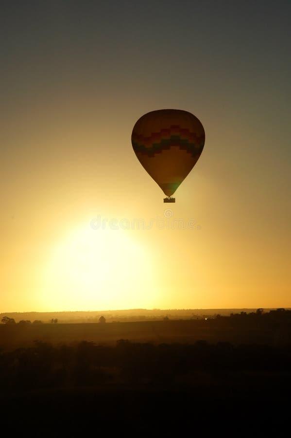 latanie balonem gorące powietrze obraz stock