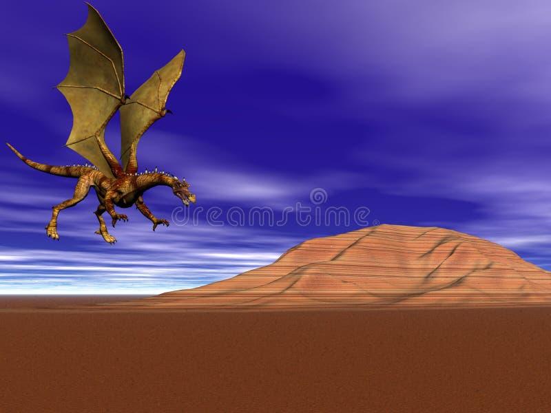 latanie smoka dom royalty ilustracja
