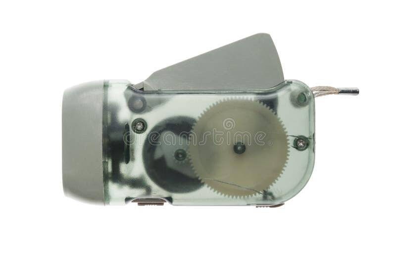 Latarka z dynamo generatorem zdjęcie royalty free