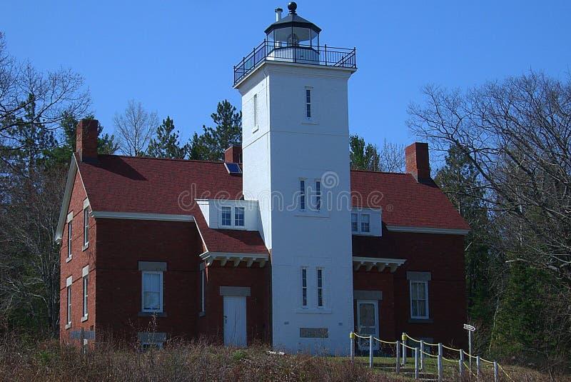 40 latarni morskich Michigan milowy punkt obrazy stock