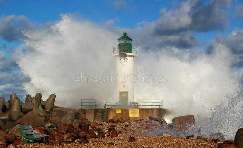 latarni morskiej burza obraz stock