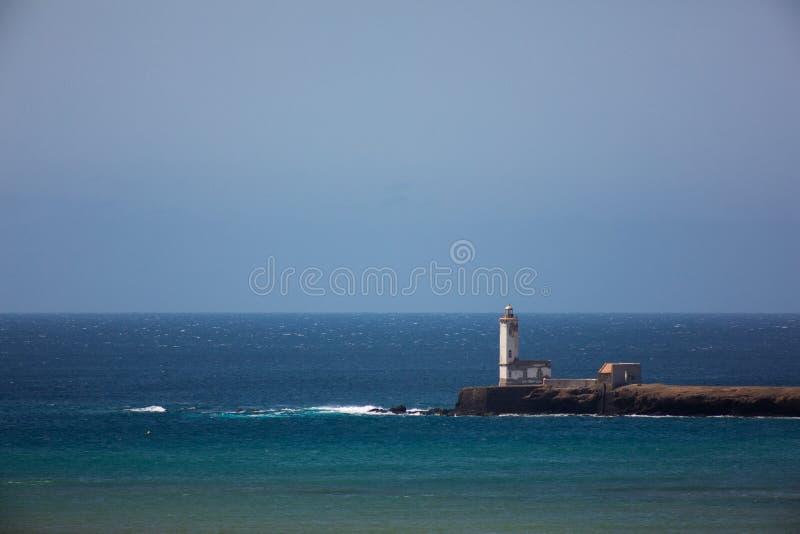 Latarni morskiej Dona Maria Pia, Praia, przylądek Verde obrazy stock