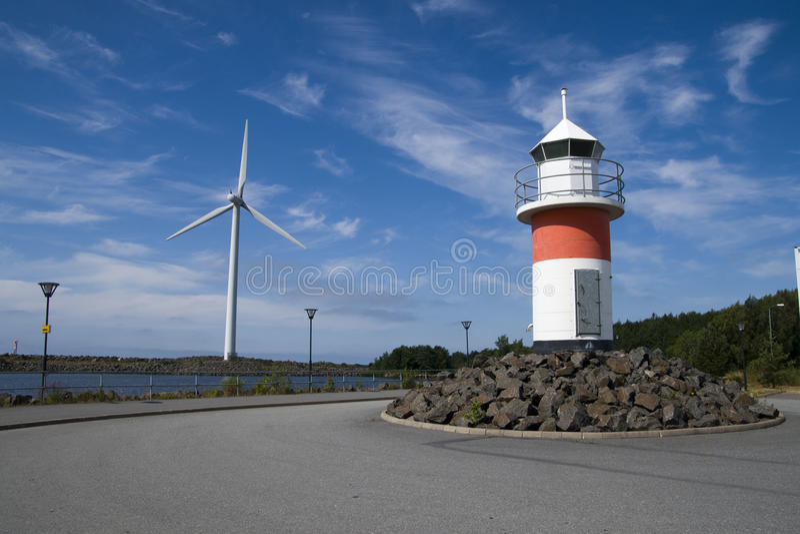 latarni morskiej końcówki silnik wiatrowy obraz royalty free