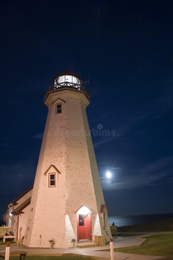 latarni morskiej księżyc zdjęcie royalty free