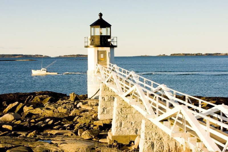 latarni morskiej Maine marshall punkt usa zdjęcie royalty free