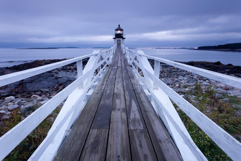 latarni morskiej marshall punktu zmierzch obrazy stock