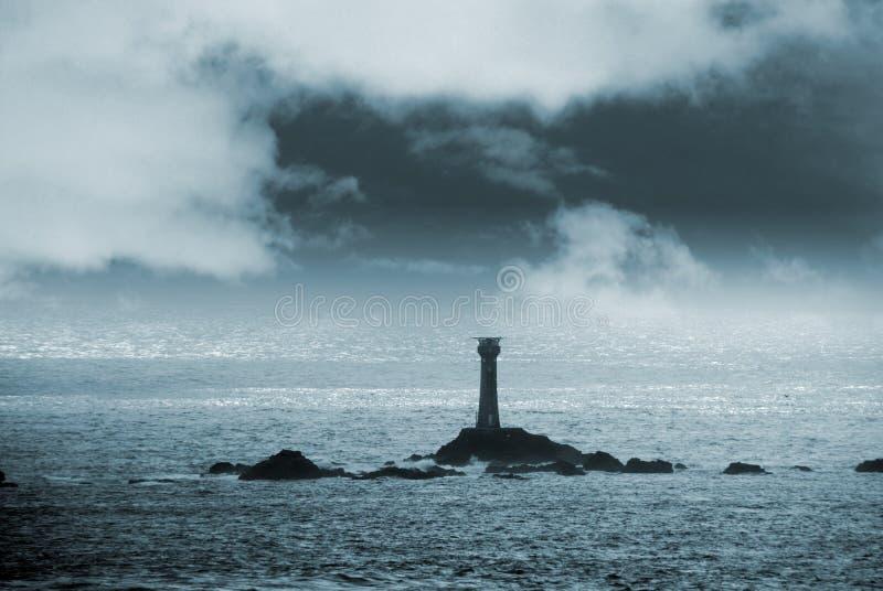 latarni morskiej noc zdjęcia royalty free