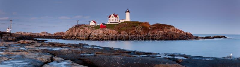 latarni morskiej nubble panorama zdjęcie royalty free