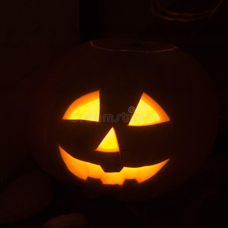 latarnia halloween. zdjęcia stock