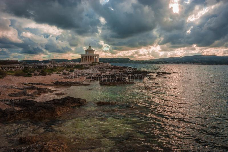 Latarnia morska święty Theodore na Kefalonia, Grecja fotografia royalty free