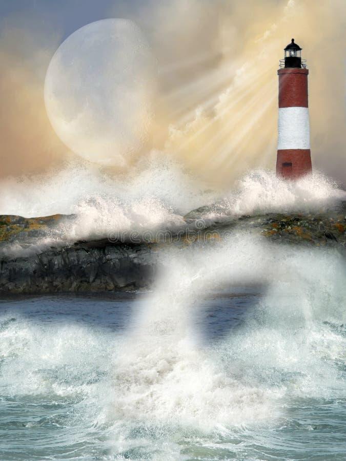 latarnia morska ilustracji