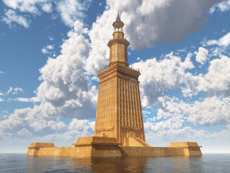 latarnia morska alexandria ilustracja wektor