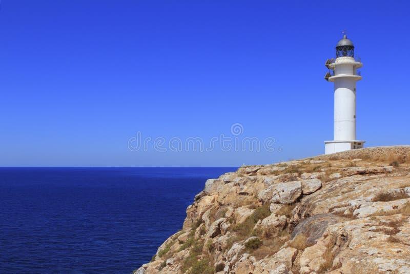 latarnia morska barbaria Formentera wysp latarnia morska zdjęcia royalty free