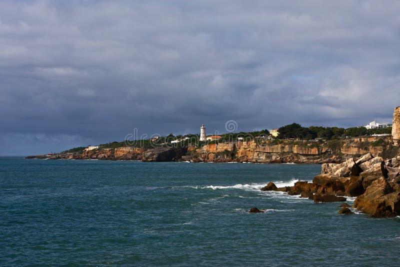 latarnia morska brzeg zdjęcie royalty free