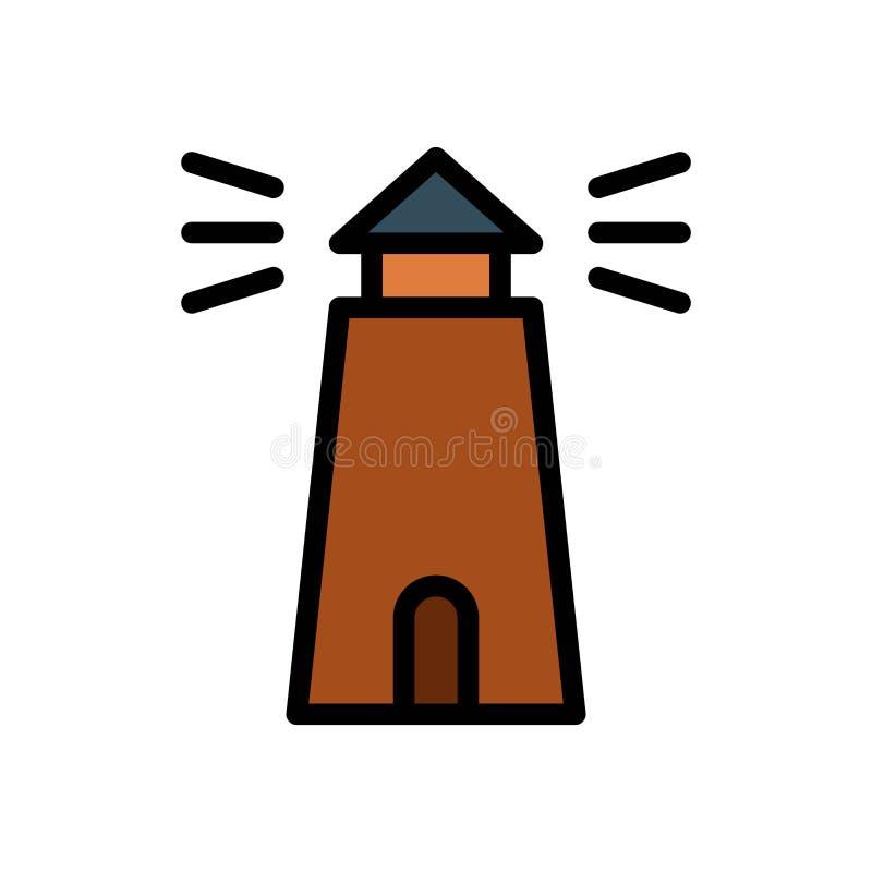 Latarnia morska budynku lata logo wektorowa ikona lub ilustracja Editable kolor i uderzenie Doskonali? u?ywa dla wzoru i projekta ilustracji