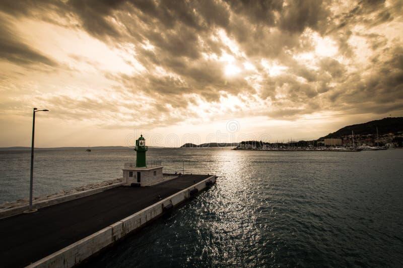Latarnia morska, Chorwacja 2017 obraz stock