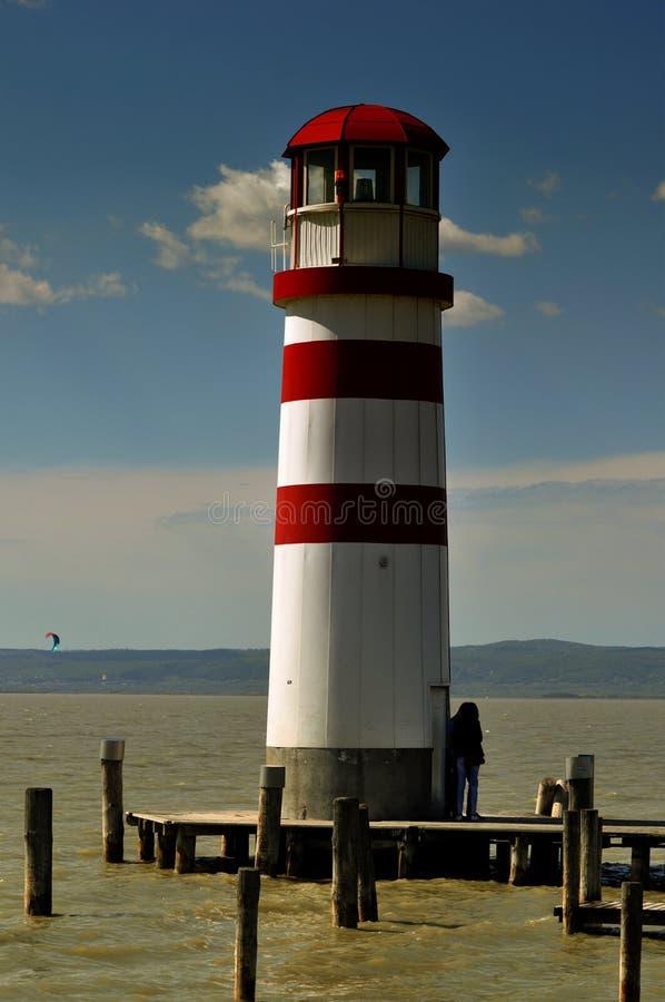 Latarnia morska Daje nadziei przewodnictwu i wzrokowi zdjęcia stock