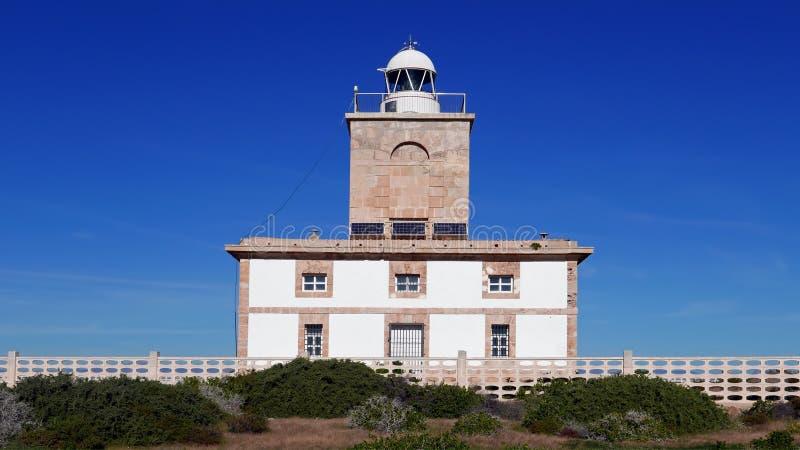 Latarnia morska Faro na wyspie Nova Tabarca koło Alicante Hiszpania obraz royalty free