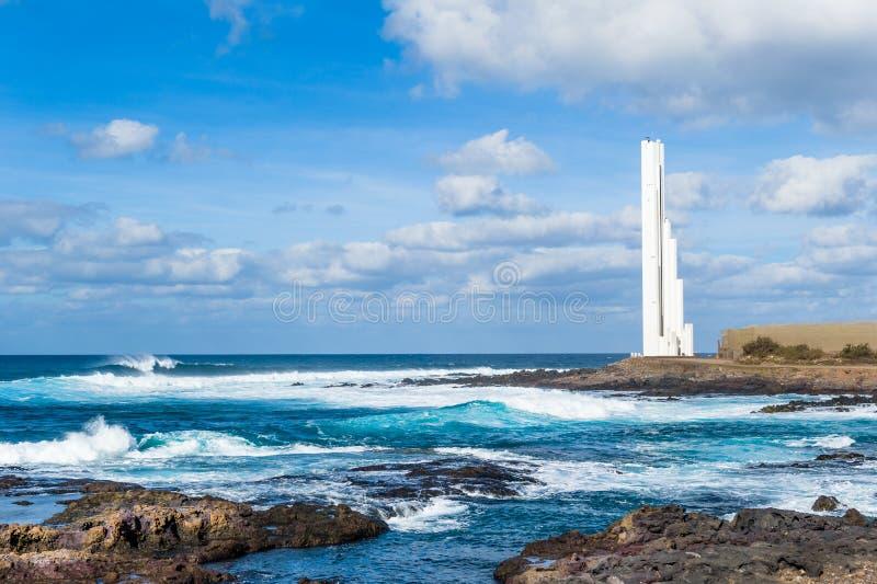 Latarnia morska Faro przy Tenerife wyspą obrazy royalty free