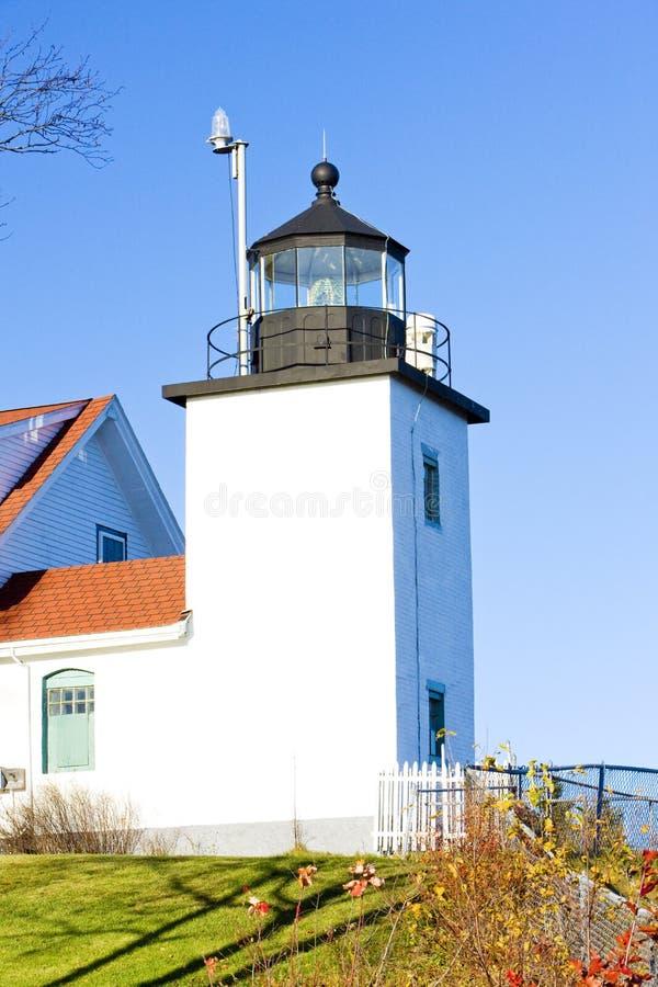 Latarnia morska fortu punktu ?wiat?o, Stockton wiosny, Maine, usa obraz royalty free