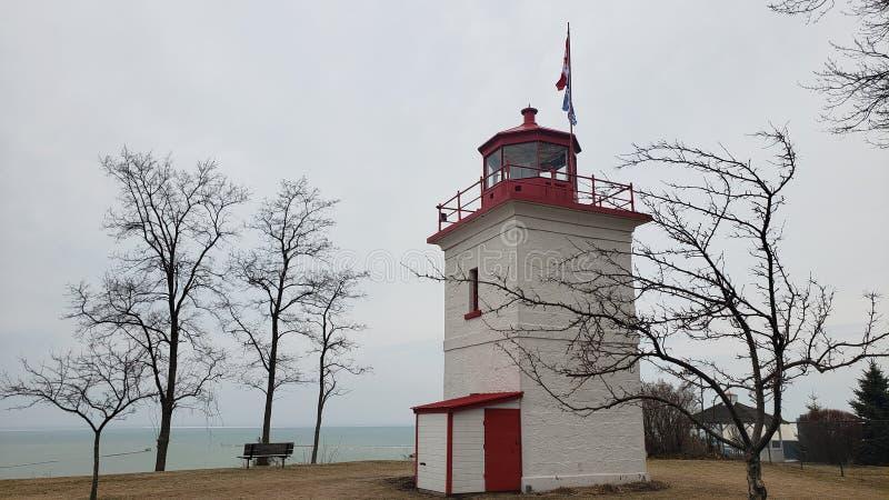 Latarnia morska Goderich Ontario Canada zdjęcia stock