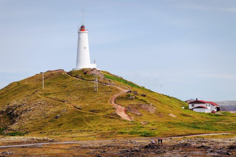 Latarnia morska Gunnuhver, Iceland obrazy royalty free